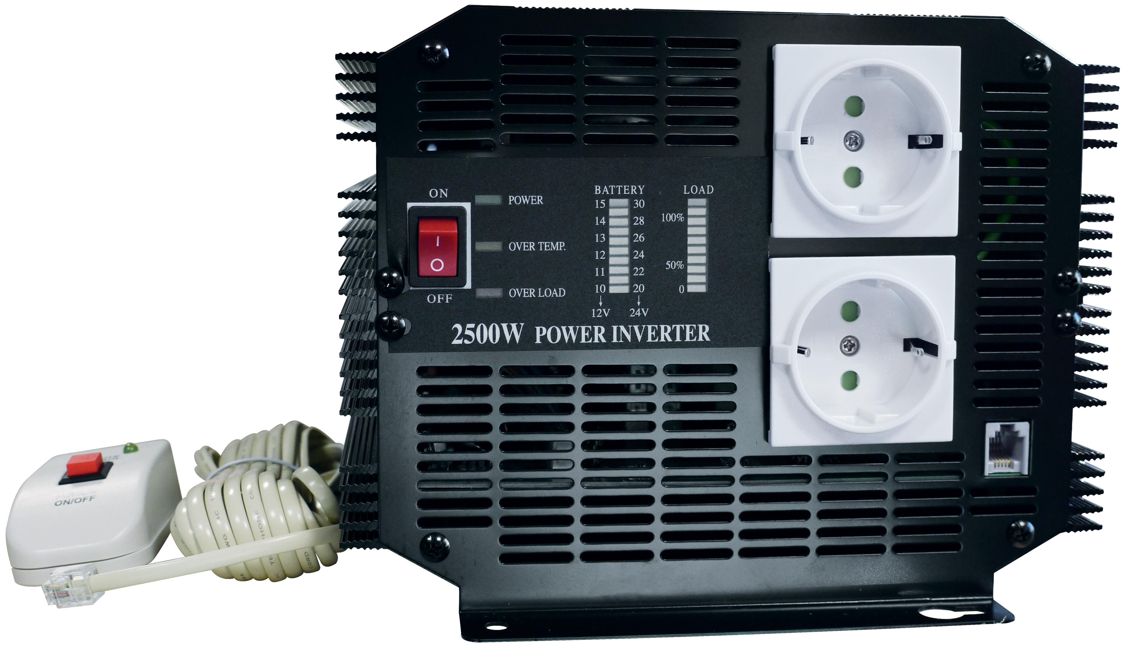 Inversores tensión 24 V / 220 V - 2500 W