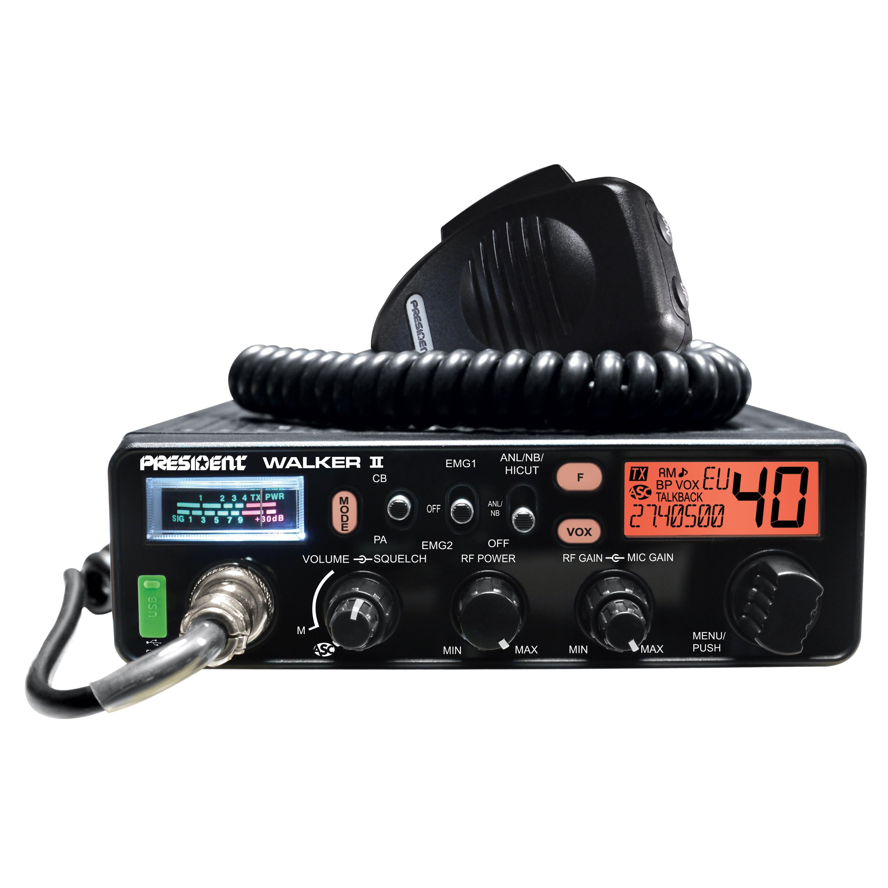 WALKER II ASC Classic - Equipos AM/FM - Radio CB / RAdioAficion - President  Electronics